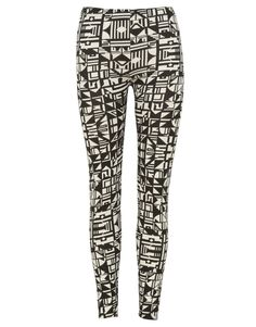 Monochrome Geometric Print Leggings  #Chiarafashion