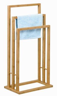 Bambus Handtuchhalter 40 x 24,5 x 82 cm Handtuchständer Handtuchstangen Badetuchhalter Stummer Diener: Amazon.de: Küche & Haushalt