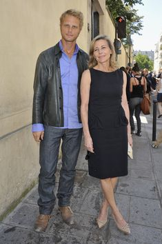Claire Chazal Little Black Dress - Clair Chazal's LBD couldn't be a chicer go-to for fashion week.