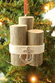 Driftwood Christmas Ornament Nautical Piling by StrollinTheBeach