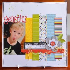Cute page for one or two pictures just using some favorite scraps!