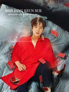 Red Leather, Leather Jacket, Jang Keun Suk, Sari, Fanart, Jackets, Candy, Fashion, Studded Leather Jacket