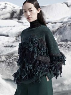 COS fall/winter 2015 ad campaign with model Fei Fei Sun by fashion photographer Karim Sadli. See all the 9 images in the galleri and shop the campaign here! Knitwear Fashion, Knit Fashion, Woman Fashion, Trendy Fashion, Fei Fei Sun, Madrid, Ice Princess, Sun And Stars, Fabric Manipulation