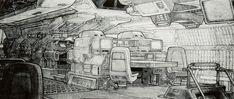 Alien Concept Art: Nostromo Bridge by Ron Cobb Sci Fi Environment, Environment Design, Syd Mead, Spaceship Interior, Spaceship Art, Alien Concept Art, Concept Draw, Interior Concept, Interior Design