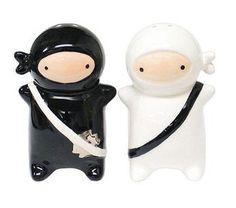 Ninja kids salt & pepper shaker set gifts for comic fans,gifts for foodie