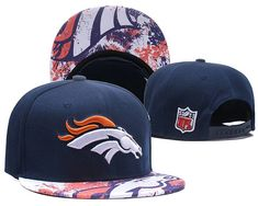 a6c9f117e7e NFL Denver Broncos Snapback Hats Visor Logo Splash Paint