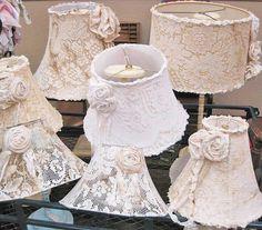 .Beautiful soft romantic lampshades