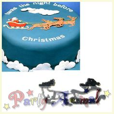 Patchwork cutters - Santa, Sleigh & Reindeer - Click Image to Close