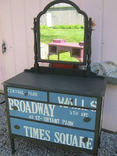 New York Painted Dresser...'