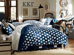 Dorm Room Ideas: Pottery Barn shag rug to warm your feet in the morning.