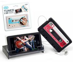 "I really want this iphone case!!!!!!  Tuned Up  Not just a cassette-shaped case, but also a stand, the ""Tuned Up"" offers two-for-one fun.    Cost: $12.99"