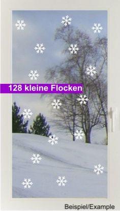 Weihnachtsdeko - Schneesturm - Klein - Fenstertattoo Set - ein Designerstück von CatrinKerschl bei DaWanda