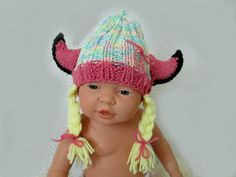 The cutest baby girl viking hat Photo prop  Ready to ship  Darling!  Your baby will be a hit in this adorable handmade HORNED HAT! Unique gift for