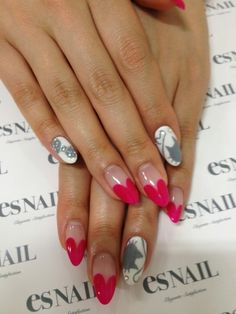 Easy French manicure with red   Nail Art Ideas