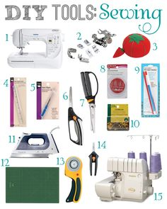 DIY Tools for Sewing: Essentials needed I love Fiskar scissors and sharpeners, my Gingher scissors are not used much now.