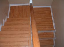Installing laminate on stairs