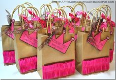 The Autocrat: Princess Party Bag Favors Princess Favors, Princess Party Bags, Princess Birthday, Girl Birthday, Diy Party, Party Favors, Shower Favors, Shower Invitations, Wedding Favors