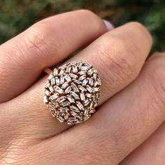 baguette diamond ring in rose gold