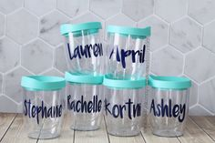 Personalized Wine Tumbler Bridal party by MonsterAndMunchkin Gift For Friend Girl, Diy Gifts For Friends, Bachelorette Party Gifts, Bachelorette Weekend, Bachelorette Ideas, Personalized Bridesmaid Gifts, Personalized Wine, Bridesmaid Cups, Bridesmaids