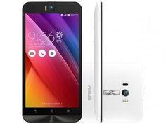 "Smartphone Asus ZenFone Selfie 32GB Branco - Dual Chip 4G Câm. 13MP + Selfie 13MP Tela 5.5"""