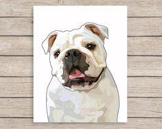English Bulldog Art Print, English Bulldog Art, Bulldog Wall Art, English Bulldog Gifts, Dog Lover Gift, Dog Breed Decor, Dog Art, Dog Decor by JulieAnnStudios on Etsy
