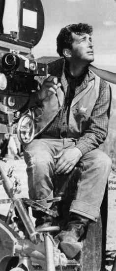 Dean Martin on the set of Rio Bravo
