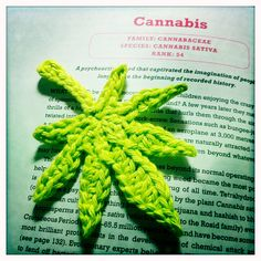 Cannabis crochet by Clement.Sim, via Flickr