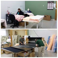 Things are moving and shaking in our sewing department! #sewing #madeinCanada #production #seniordogproducts