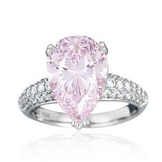 Diamonique 6.50ct tw Pear Cut Ring Sterling Silver