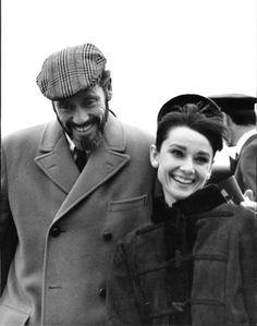 Rare Audrey Hepburn — Audrey Hepburn with her husband Mel Ferrer at...