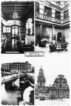 Visor Archivo General Región de Murcia. FOT_POS,06/084 / Tarjeta publicitaria del hotel 'Victoria'.c.1955