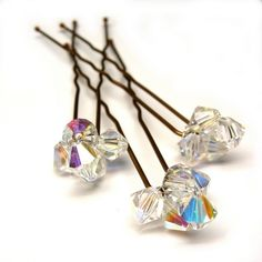 crystal hairpins for weddings brides and bridesmaids. £13.99