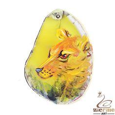 Pendant Hand Painted leopard Natural Gemstone bag Accessory ZL803165 #ZL #Pendant