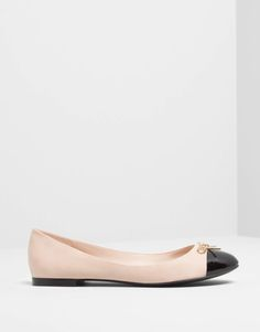 Pull&Bear - footwear - · flat shoes - ballet pumps with toe cap detail - nude - 15555311-I2014