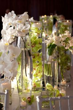 Moth orchids, submerged Cymbidium orchids and mini Calla lilies. Wedding Blog, Wedding Events, Wedding Ideas, Wedding Stuff, Dream Wedding, Wedding Inspiration, Calla Lily Flowers, Calla Lilies, Water Centerpieces