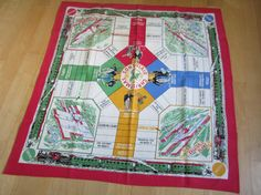 RARE Vintage Tablecloth Game Board by NeatoKeen on Etsy, $193.50
