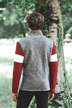 Men Sweater, Turtle Neck, Blazer, Sweaters, Fashion, Mandarin Collar, Scale Model, Grey, Jackets