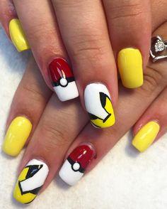 21 Pokemon Nail Designs at CherryCherryBeauty.com