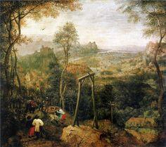 DÜNYA KAÇTI GÖZÜME......: Pieter Bruegel the Elder-1568  Darağacındaki Saksa...