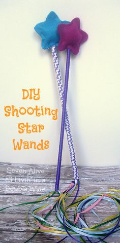 Seven Alive all Livin in a Double Wide: DIY Shooting Star Wands