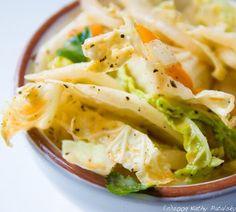 Light Ginger Citrus Napa Cabbage Slaw