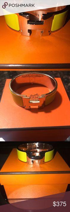 Hermes H bracelet Beautiful Authentic used Clic Clac H Hermes bracelet! Got it as a birthday gift Hermes Jewelry Bracelets