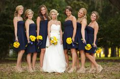 navy and yellow. im seriously in love with this