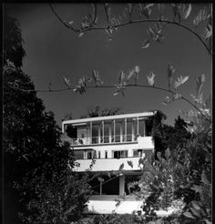 Exterior view of the Elliot House, Los Angeles, 1930 :: Library Exhibits Collection Usc Library, University Of Southern California, Cinema Posters, Illuminated Manuscript, Digital Image, Black History, Paths, Art Decor, Exterior