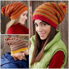 Spice up your life and add some color to your fall wardrobe with the Change Your Stripes Hat. With three different versions all using garter stitch knitting, these knit hat patterns are perfect for the beginner knitter looking to show off their skills to the world.