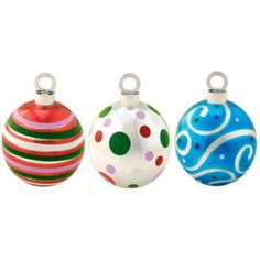 Christmas Ornament Balloon Weights and Placecard Holders (assorted)