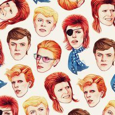 David Bowie patterned fabric…I mean I hope it really is… (please follow minkshmink on pinterest)