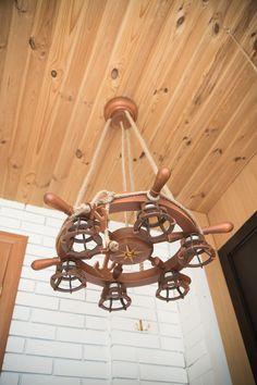 Nautical Chandelier, Chandelier Ceiling Lights, Clocks Back, Ship Wheel, Nautical Fashion, Lamp Bases, New Room, Led Lamp, Compass