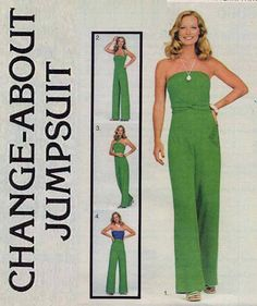 Disco 70s Butterick 5363 Multi Wrap Jumpsuit by MaddieModPatterns