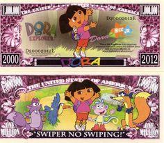 DORA the Explorer Million Dollar Novelty Money
